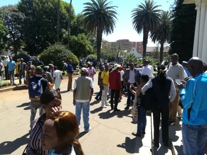 Part of the Bulawayo residents who turned for swearing in of councilors